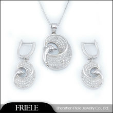 2014 dubai gold wholesale market fashion rhinestone swan jewelry set