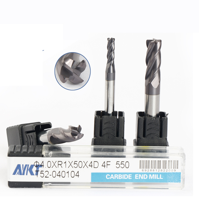 high performance HRC55 cutting tools <strong>carbide</strong> ,Dongguan professional milling cutter supplier corner radius metal cutter