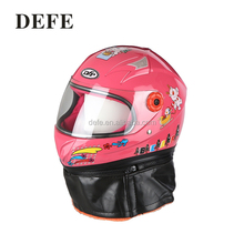 Beautiful shape full face motorcycle helmet cartoon pink children helmets kids helmets