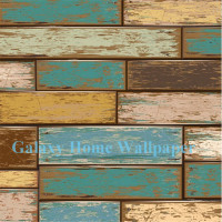 Vintage/Retro wood grain wallpaper mural design