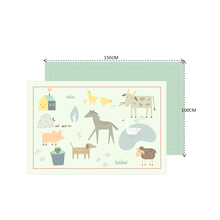 personalized cute animal print baby playmat for unisex acctive mat