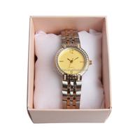 Fashionable geneva quartz watches stainless steel japan movt