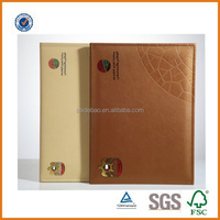 Customized logo A4 size certificate holder/genuine leather certificate folder/pu leather certificate portfolio