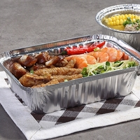 ZX164 640ml Disposable Aluminum Foil Container