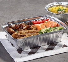 ZX164 640ml disposable aluminum foil container for food packaging/carryout lunch box