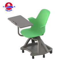 conference writing pad plastic student chair with tablet arm
