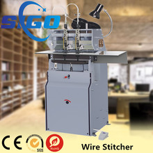 Book stitcher,Manual two head wire stitching machines for exercise book and magazine