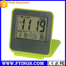 travel alarm digital clock with back lights hot,flip alarm clock