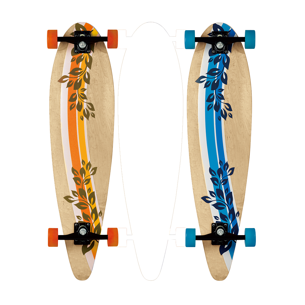 New style 7 plies100 canadian maple long mini cruiser fish skateboard