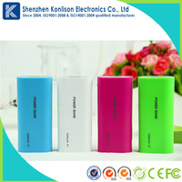 Smart power bank charger 5200mAh External Battery Pack Backup Power Bank for Cellphones and Tablets