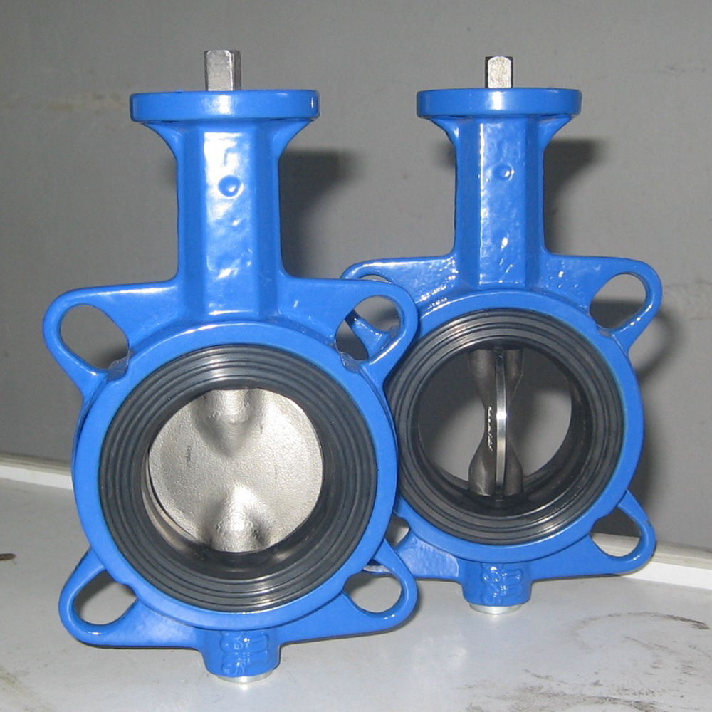 wafer connection cement butterfly valve by hand lever operated