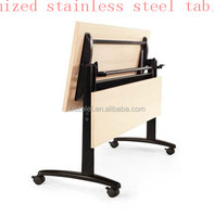 wooden and stainless steel folding tables/custom steel tables