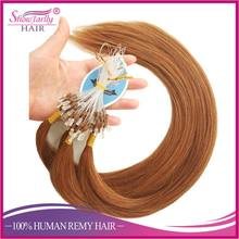 Popular pre-bonded keratin tipped micro loop ring hair extensions auburn red cheap micro bead hair extension