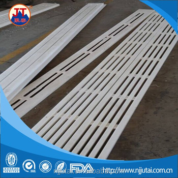 CNC machining white UHMWPE suction box cover pad