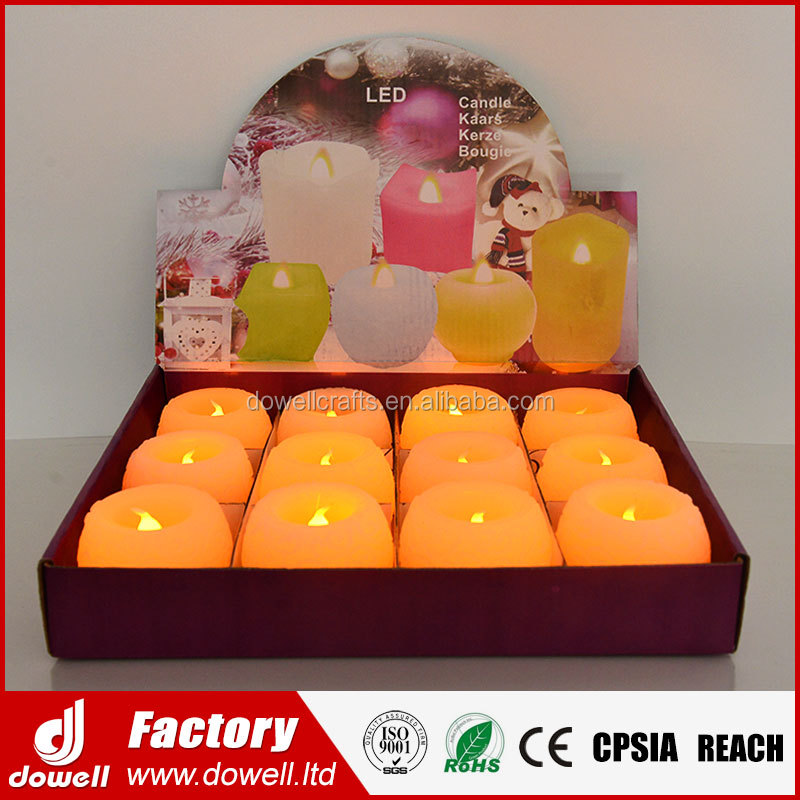 Electric LED Flameless Flickering Wick Birthday Wedding Paraffin Real Wax Candle Making