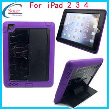 Plastic pc stand tablet case for iPad 2 3 4,Protective tab pc case for iPad