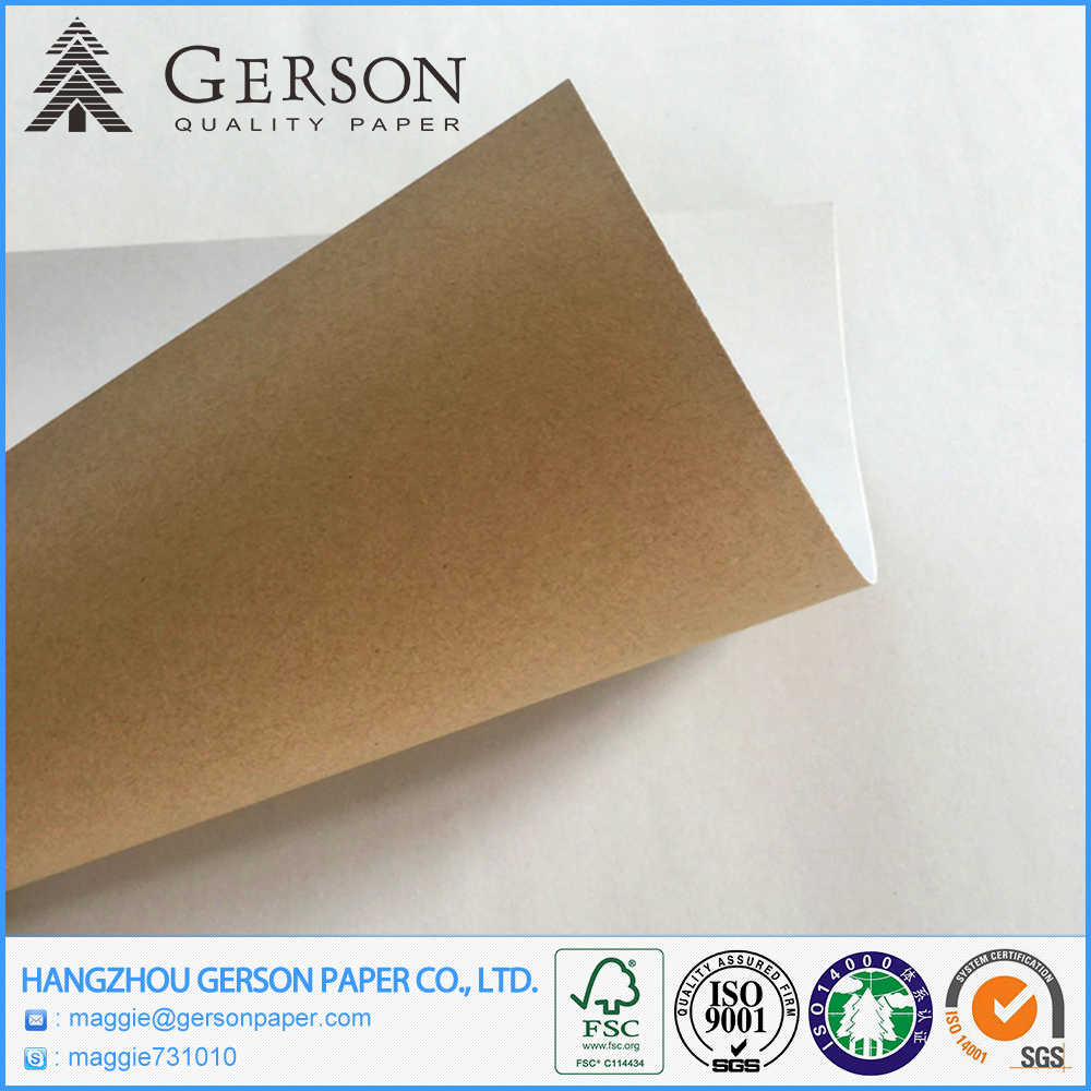 High Quality Good Smoothness One Side Kraft Back Coated Duplex Card Paper Board In Reel