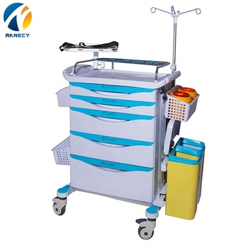 AC-ET078 health medical supply wholesale abs hospital emergency medical crash trolley