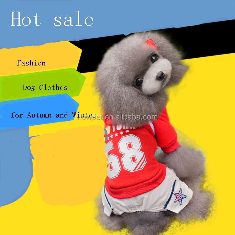 Factory direct crazy selling american style dog clothes autumn and winter pet dog clothing