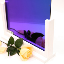 Hot Selling Colored Tinted Rainbow Blue Glass Mirror ,Cheap Glass