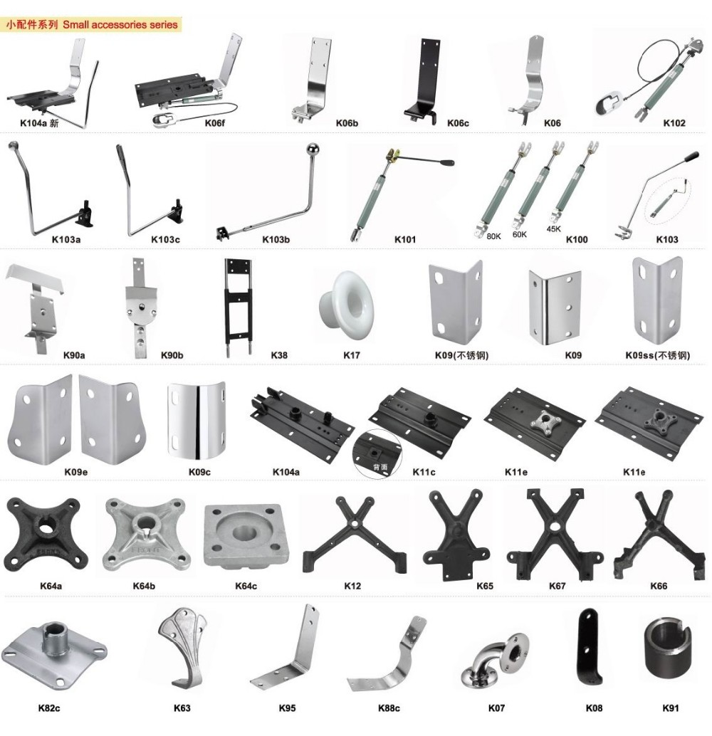 barber chair parts height adjustable headrest frame iron stents for