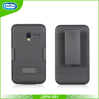 New arrival phone holster stripe pattern case covers for Alcatel 4009f/pixi 3 (3.5) with belt clip kickstand