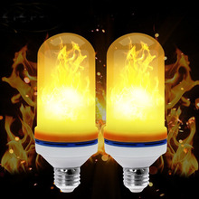 Factory Outlet 3 Modes 8W E27 E26 B22 Led Fire Flame Effect Light Bulb Simulated Decorative Light Atmosphere Lighting