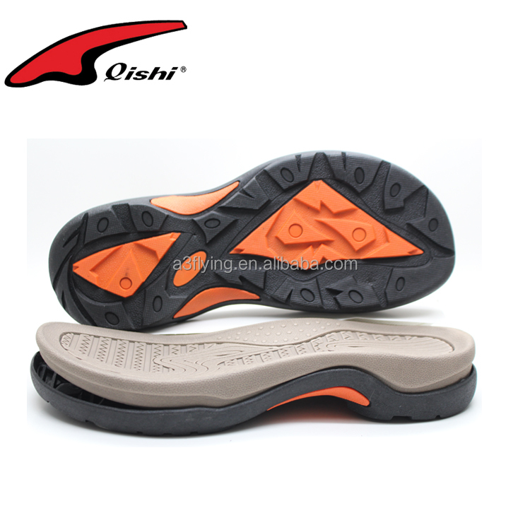 Newest design soft eva shoe sole beach rubber sole