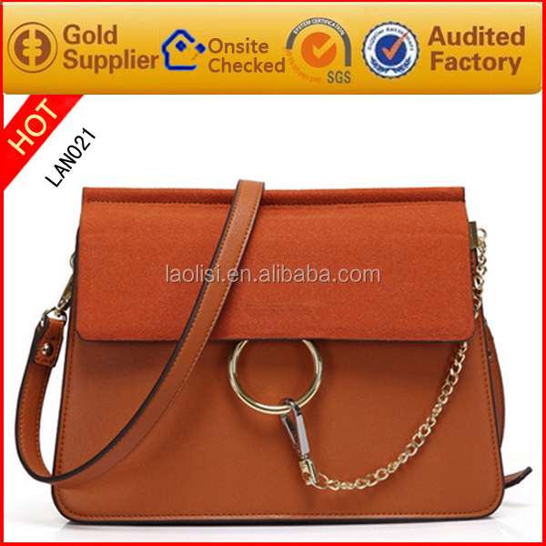 Zhanwang Leather Factory Custom made Fashion Lady Handbag Hand Bag and Messenger Bag