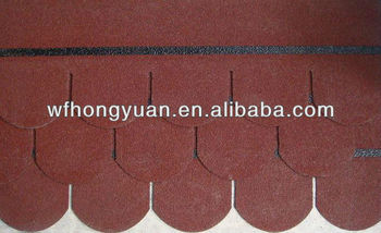 Decorative roofing material-Colorful Fiberglass Asphalt roof tile manufacturer
