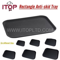 Plastic Non-slip Fast Food Tray/Round Anti-skid tray
