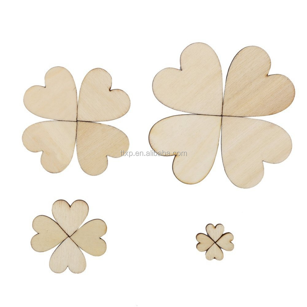 Natural Wooden Hearts Shaped Wooden Embellishments for DIY <strong>Crafts</strong> Making