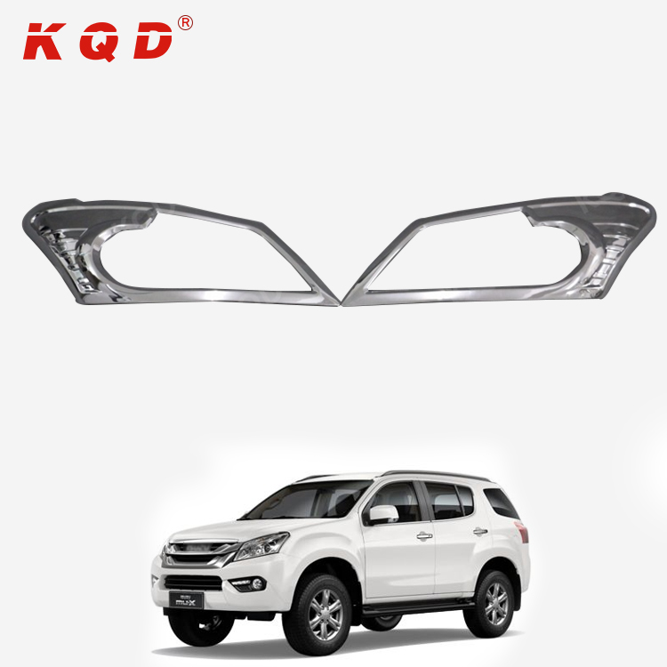 chrome accessories Front light garnish headlight cover for isuzu mu-x