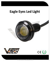 12V 1W 23mm cob chips waterproof white eagle eyes with high quality white led headlights