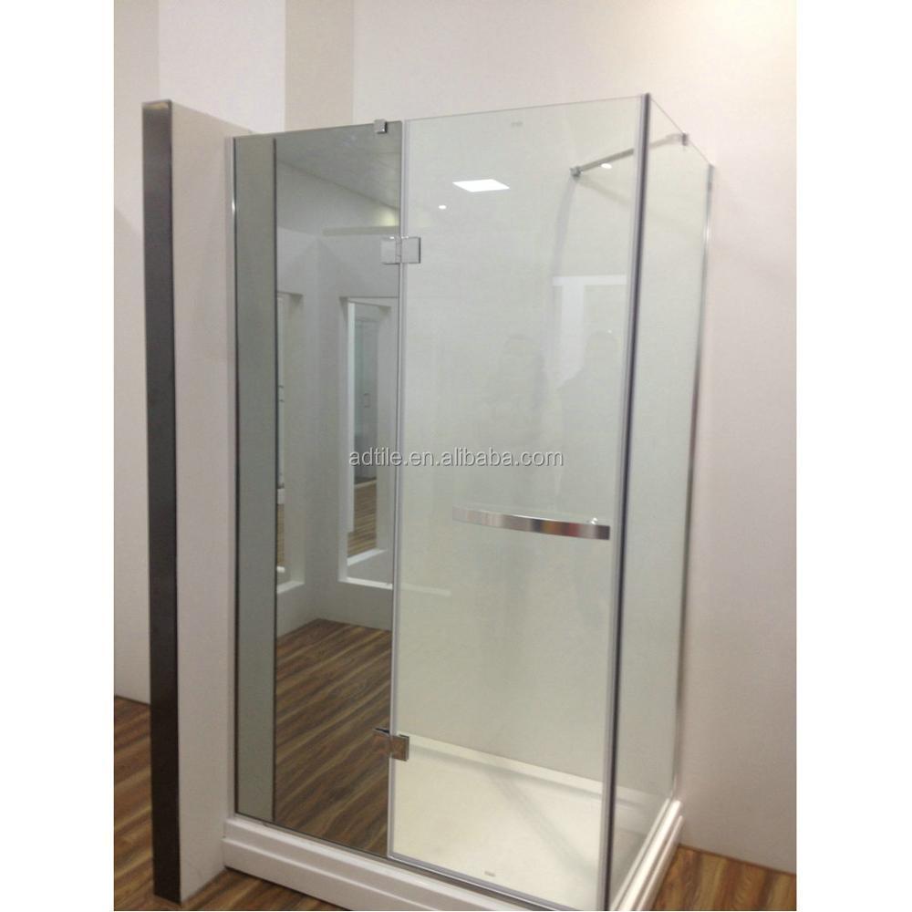 Frameless Shower Stall 8/10mm Glass 2 Sided Shower Enclosure - Buy ...