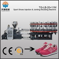 20 stations 1 color pvc shoe upper lasting injection machine