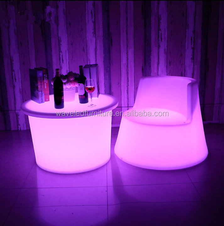 Top quality wholesale led bar table color change led tea table for coffee bar
