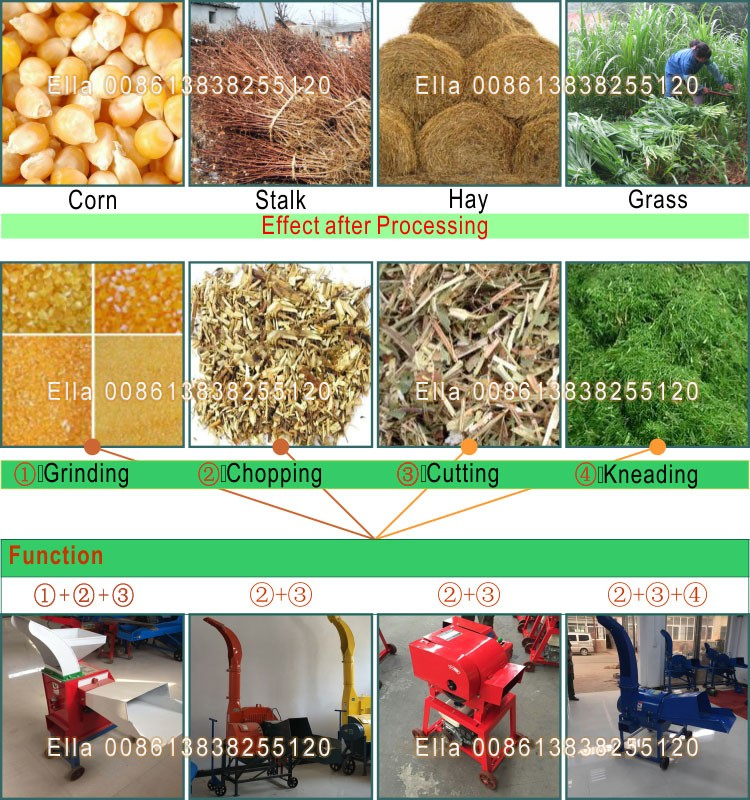 Factory Direct Sales Grass Chopper Machine For Animals Feed