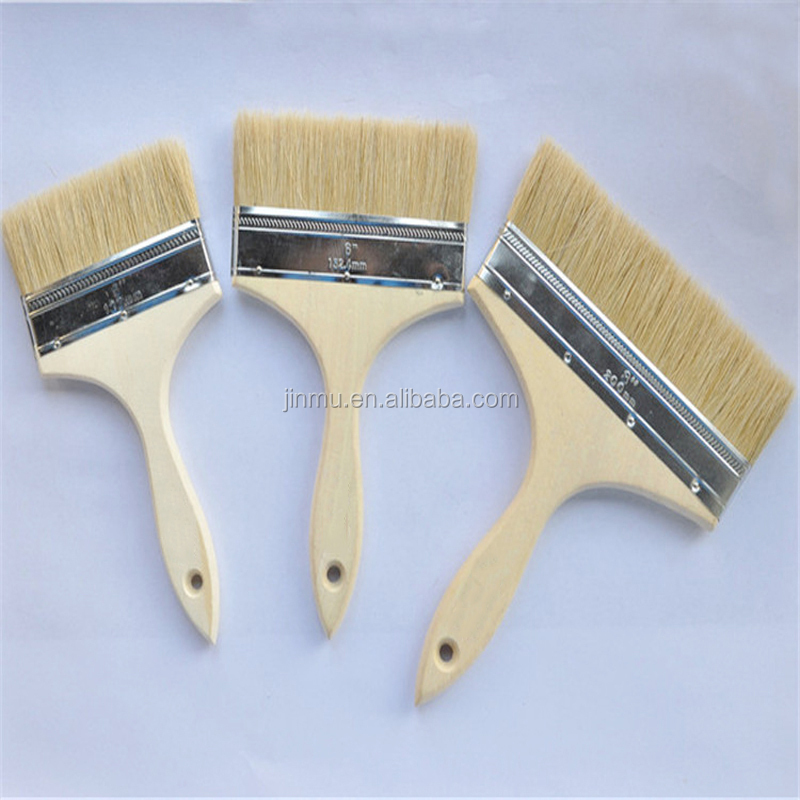 Wood handle pure bristle paint brush BBQ brush food brush