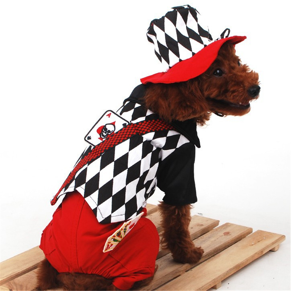 Designer Fashion Pet Clothing Dog Magician Costume with Hat