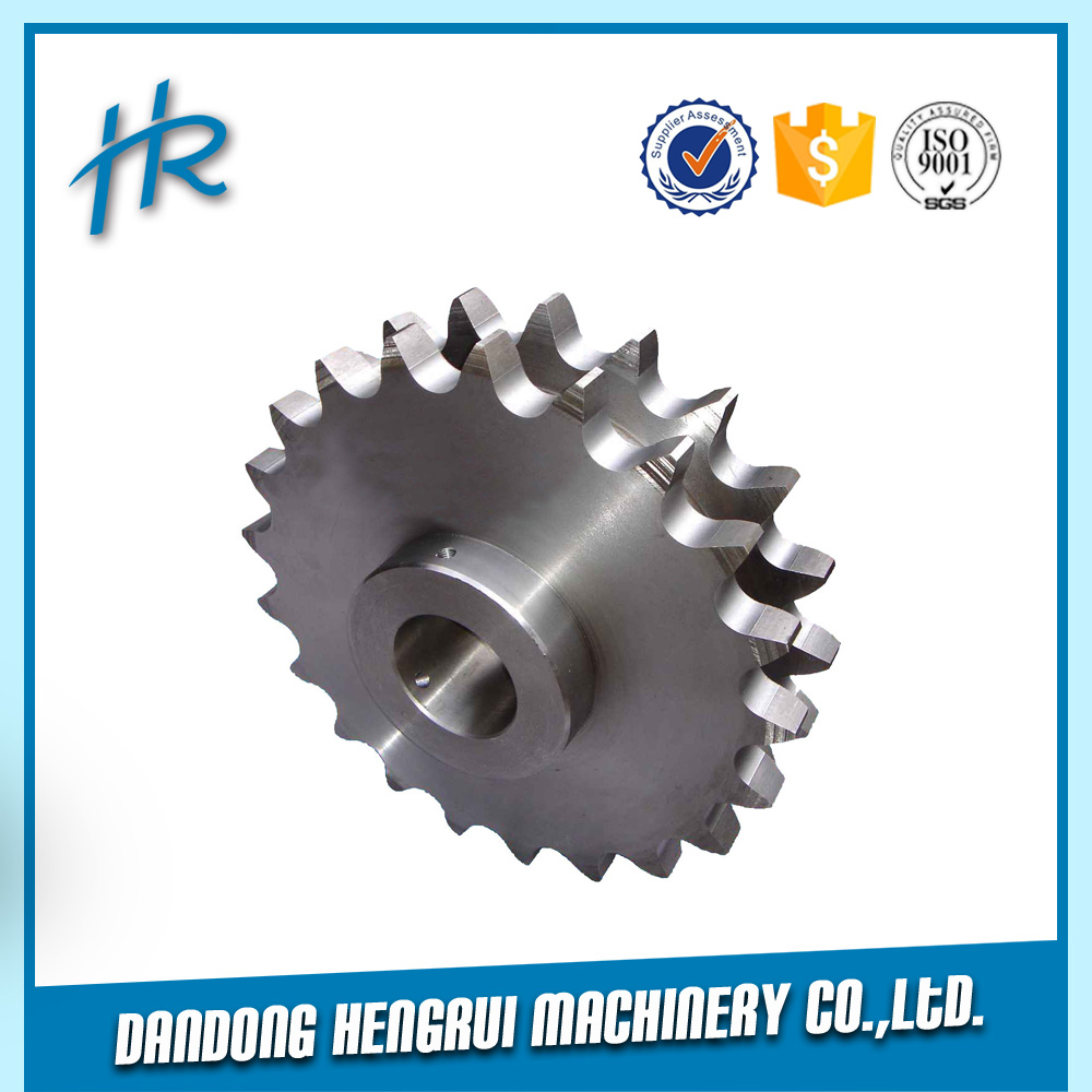 Single Chain and Sprocket Power Transmission Parts Steel Double Row Sprocket