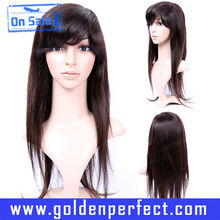 Wholesale Cheap Pretty Girl Brazilian Straight Human Hair Wigs Full Lace Wig