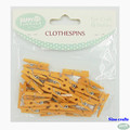25x3mm Yellow mini wooden pegs small painted clothespin for home decoration