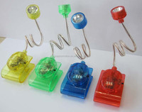 plastic mini clip reading led book light for promotion