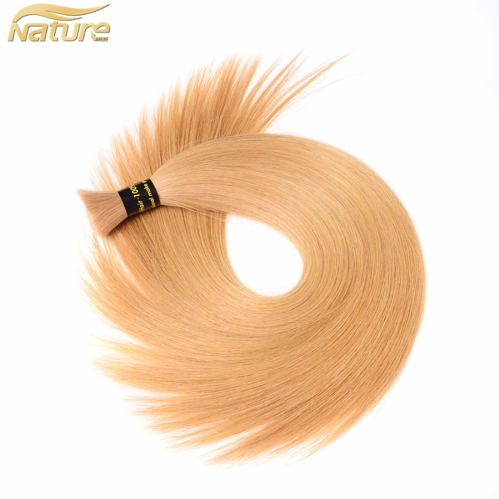 Human Braiding Hair Bulk Strawberry Blonde Human Hair For Micro Braids No Weft 100G/Pcs Wholesale Retail fast shipping