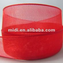 Promotion sheer nylon organza ribbon for make bow
