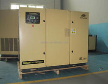 CE 75KW variable speed driven electric screw air compressor with ISO