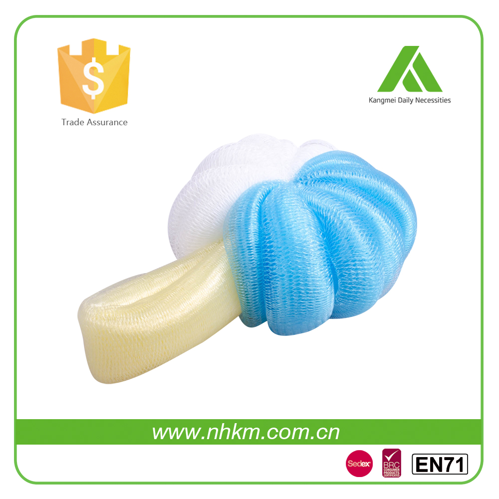high quality Loofah Mesh Bath Sponge with brush