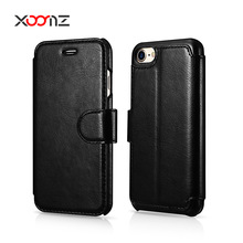 XOOMZ 2017 New Flip Leather Wallet Phone Case for iPhone 7 7 Plus Case Cover with Credit Card Slots