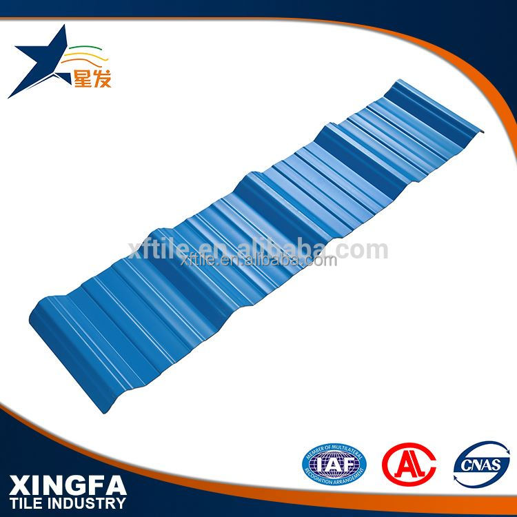 Low price UPVC trapezium solar tile roof